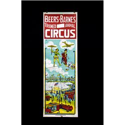 1958 Beers-Barns Circus Poster