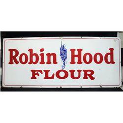 """Very Large Vintage """"Robin Hood Flour"""" Porcelain Sign"""