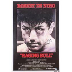"""Jake LaMotta Signed """"Raging Bull"""" 26.5x39 Movie Poster Inscribed """"Raging Bull"""" (JSA Hologram)"""