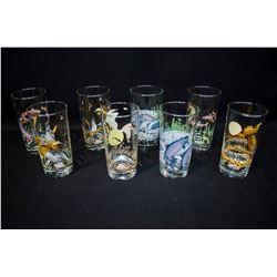 Hunting/Fishing Theme Glasses - Set of 8
