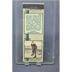 1935-36 Diamond Matchbooks Tan #50 Murray Murdoch