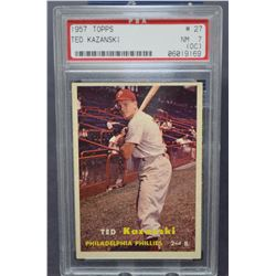 1957 Topps #27 Ted Kazanski - NM