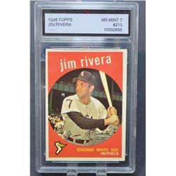 1959 Topps #213 Jim Rivera - NM
