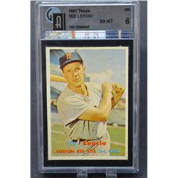 1957 Topps #288 Ted Lepcio - EX-MT