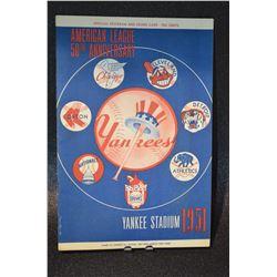 Rare - 1951 Yankees Stadium Program