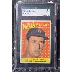 1958 Topps #485 Ted Williams AS - (NM)