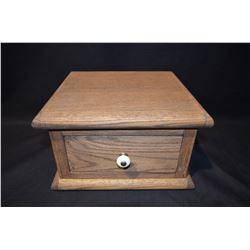 Handmade Oak Box w/drawer
