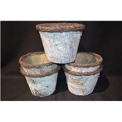 6- Bark Wrapped Flower Baskets
