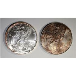1993 & 1996 BU AMERICAN SILVER EAGLES