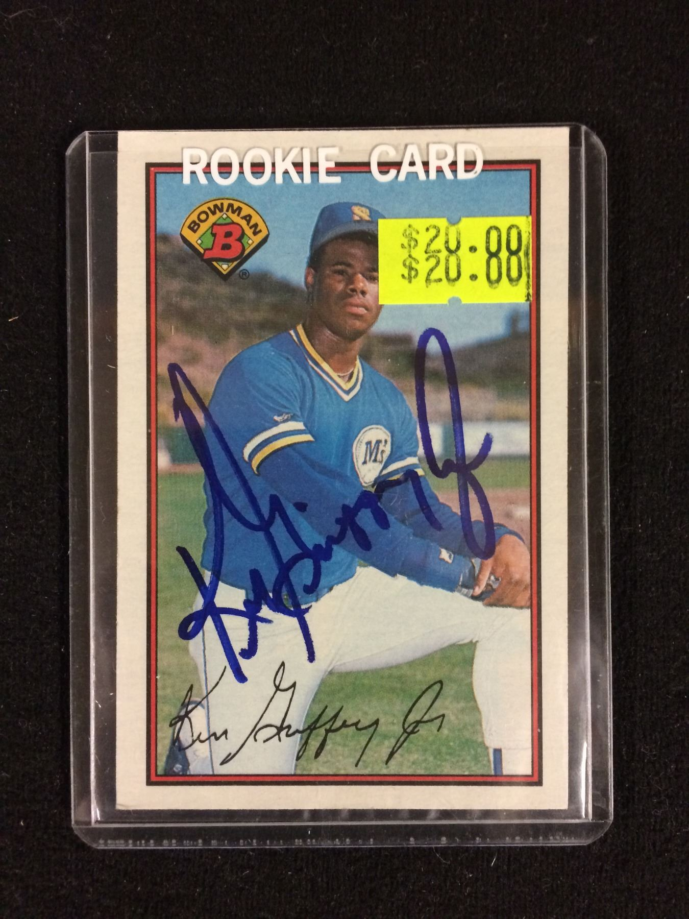 1989 Bowman Tiffany Ken Griffey Jr Rookie Card Signed 220