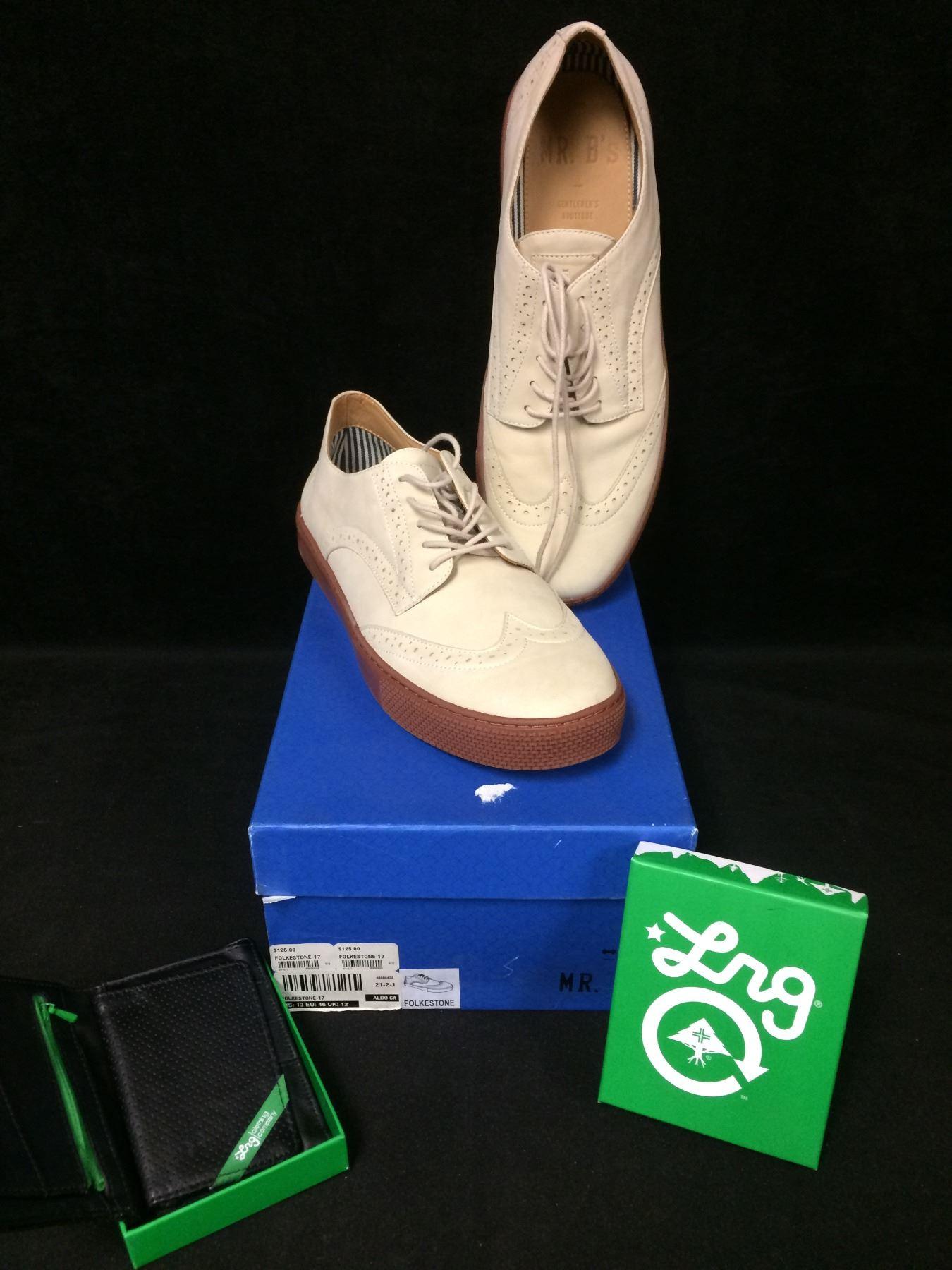 0af3f4c6ca Image 1 : NEW IN BOX Mr B's FOR ALDO MENS NATURAL FOLKESTONE REG $125 SIZE  ...