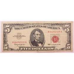 1963 $5 US Note