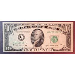 1950 C $10 Federal Reserve Note