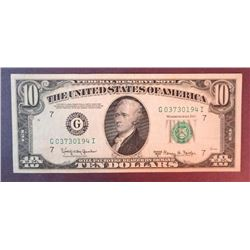 1950 E $10 Federal Reserve Note