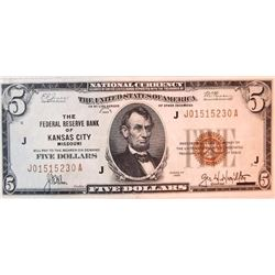 1929 $5 National Currency