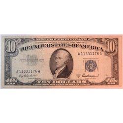1953 A $10 Silver Certificate