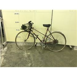 RED SUPERCYCLE GRAND TOURING 5 SPEED ROAD BIKE.  SOME DAMAGE PLEASE VIEW