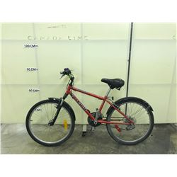 RED RALEIGH FORE STORMFRONT SUSPENSION 18 SPEED MOUNTAIN BIKE