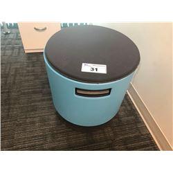 STEELCASE TURNSTONE PNUEMATIC LIFT ERGONOMIC OFFICE STOOL - BLUE