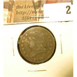1826 U.S. Half Cent, Fine.