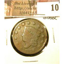 1824/2 U.S. Large Cent, Good.
