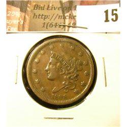 1838  U.S. Large Cent, EF.
