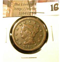 1845 U.S. Large Cent, VG-F.