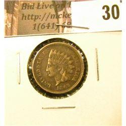 1862 U.S. Indian Cent, VG-EF.