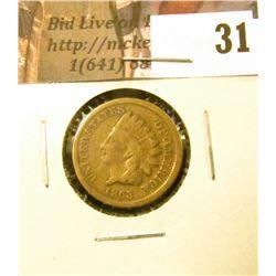 1863 U.S. Indian Cent, Good.