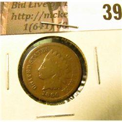 1864 L U.S. Indian Head Cent, Good.