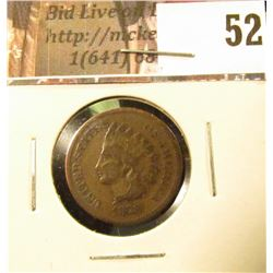 1878 U.S. Indian Head Cent, Good-Very Good.