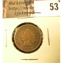 1894 U.S. Indian Head Cent, Very Good.