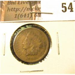 1908 S U.S. Indian Head Cent, Fine with corossion.