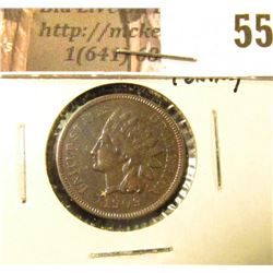 1909 U.S. Indian Head Cent, EF-AU, beautiful toning.