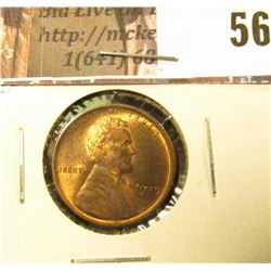 1909 P VDB Lincoln Cent, BU, Red.