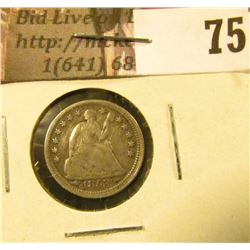 1853 arrows U.S. Seated Liberty Half Dime, VF,