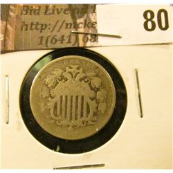 1868 U.S. Shield Nickel, Good.