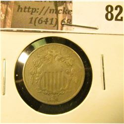 1868 U.S. Shield Nickel, Fine.