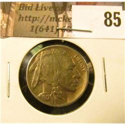 1917 D Buffalo Nickel, EF.