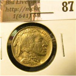 1938 D Buffalo Nickel. Uncirculated with natural toning.