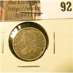 1835 Capped Bust Dime, scratches, VF.