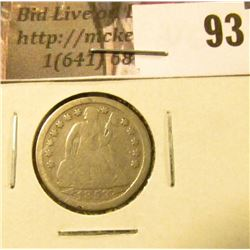1853 P U.S. Seated Liberty Dime with Arrows, VG.