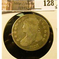 1831 Capped Bust Half Dollar, Good.