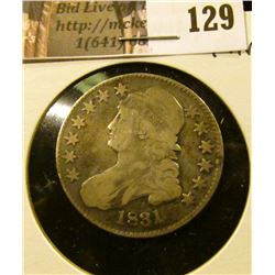 1831 Capped Bust Half Dollar, Fine.