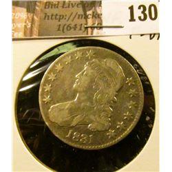 1831 Capped Bust Half Dollar, Fine-VF.