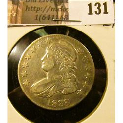 1833 Capped Bust Half Dollar, VF-EF.