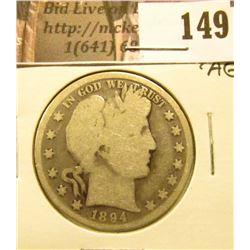 1894 P Barber Half Dollar, Good/AG.