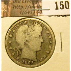 1895 P Barber Half Dollar, Good.