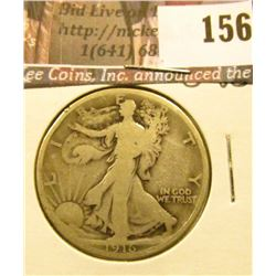 1916 P Walking Liberty Half Dollar, G-VG.