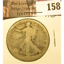 1916 D Walking Liberty Half Dollar, AG.